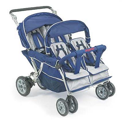 4-seat folding bye bye strollers